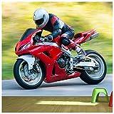 azutura Red Motorrad Fototapete Sport Tapete Jungen Schlafzimmer Haus Dekor Erhältlich in 8 Größen Riesig Digital