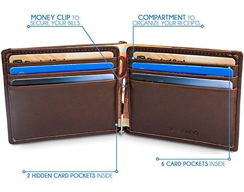 760b61ee0ae0b Slim Portemonnaie mit Geldklammer LAGOS Geldbeutel Männer klein Geldbörse  Portmonaise Wallet Kreditkartenetui RFID schmal Geldtasche Portmonee  Kartenetui ...