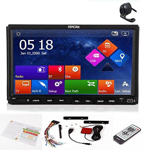 EinCar schermo multi-touch navigatore GPS USB del PC SD di sistema di lettore DVD dell'automobile ricevitore radio FM Autoradio AM 2 din in macchina fotografica del precipitare AMP retrovisore Sub Bluetooth l'audio video stereo unità principale Car