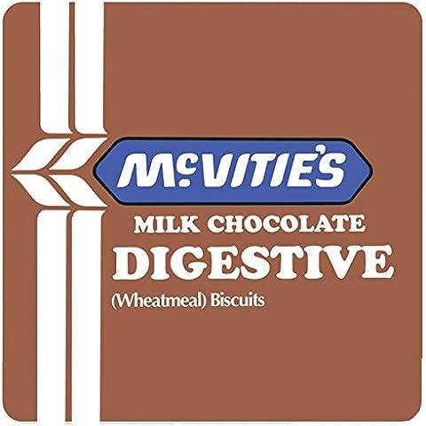 Marrone McVitie s Milk Chocolate Digestive Single Coaster