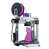 Neue Ankunft ALUNAR 3D Drucker Prusa I3 Aluminum DIY 3D Printer Selbstaufbau Abdruckgröße: 210 * 210 * 225 mm Desktop FDM 3D-Drucken-Maschine 1.75mm 3D-Filament SD-Karte enthalten (Silber)