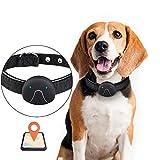QNMM GPS Dog Locator Anti-Lost Tracer mit Hundehalsband GPRS-Tracking, Echtzeit-Tracking, Wasserdicht, Kostenlose APP, Keine Servicegebühr,Black