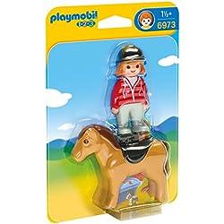 Playmobil 1.2.3 - 1.2.3 jinete con caballo (6973)