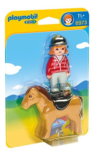 Playmobil 6973 1.2.3 Equestrian with Horse
