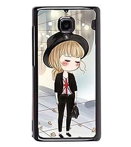 Fuson Premium 2D Back Case Cover Cute office Girl With Multi Background Degined For Xiaomi Redmi 1S::Xiaomi Redmi (1st Gen)