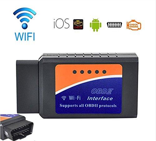WildAuto - OBD2 OBDII Diagnostic Scanner D'automobile ,WiFi Véhicule pannes scanner - Pour Voiture Numérisation Adapteur Outils Compatible avec iPhone iOS et Android - Auto Universel - 1 Pcs