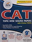 CAT Topic-wise Solved Papers with 6 Online Practice Sets