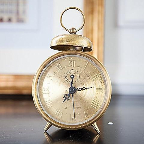 KOIKO Gli studenti del letto fatta di allarme di creative retrò orologio avvolto in rame puro suono massimo allarme , meccanica singolo anello in rame intrecciato - Anello Operato