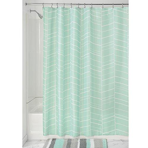 InterDesign Kylie Cortina de baño | Cortina de ducha lavable a máquina con 12...