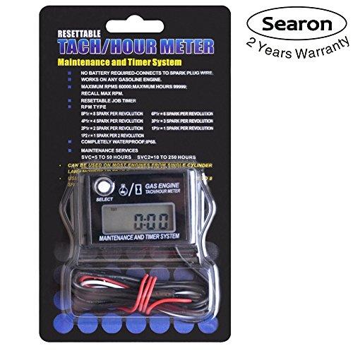 Digital Tachometer Tachometer RPM Drehzahlmesser für Schneemobil Ski Motor Bike Go-Kart Rasenmäher