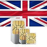 travSIM Großbritannien/England Prepaid Daten Sim Karte + 5GB für 30 Tage - Standard,Micro & Nano Sim