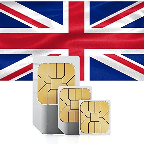 travSIM Großbritannien / England Prepaid Daten SIM Karte + 1.5GB für 30 Tage - Standard,Micro & Nano SIM
