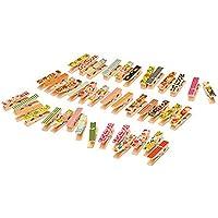 ROSENICE 100pcs Mini Pinza de Madera para Manualidades y Papel Fotografíco
