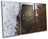 Bold Bloc Design - Destiny Rise of Iron XBOX ONE PS4 Gaming 120x80cm TREBLE Leinwand Kunstdruck Box gerahmte Bild Wand hangen - handgefertigt In Grossbritannien - gerahmt und bereit zum Aufhangen - Canvas Art Print