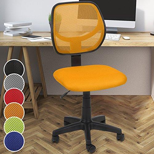 Miadomodo - Silla giratoria de oficina - altura regulable - naranja - diferentes colores a elegir
