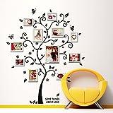 Graz Design Sticker mural décoratif Motif arbre et papillons 120 x 100 cm