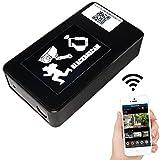 WLAN Überwachungs Kamera per App steuerbar / Full-HD 90° Weitwinkel WIFI IP Netzwerk Kamera mit MicroSD Speicher bis 128 GB / Bewegungserkennung mit Benachrichtigung Marke BlackBoxCam® (Original)