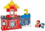 Mattel Mega Bloks First Builders CNG25 - Rettungsstation Polizei mit Feuerwehr, Bau- und Konstruktionsspielzeug
