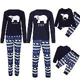 Riou Weihnachten Familie Pyjamas Set Daddy Small Bear Gedruckt Nachtwäsche Schlafanzug Homewear für Kinder Mama Dad Baby Kleidung Set Kinder Pullover PJS Weihnachten Outfits (90, Baby)