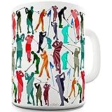 Twisted Envy Golf Rainbow Collage Keramik Neuheit Tasse