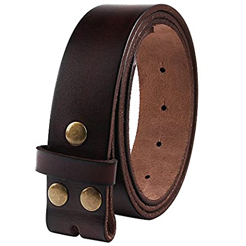 Senmi Mens 100% Genuine Full Grain Leather Belt One Piece