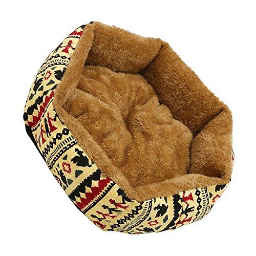 Pinzhi1x Haustier Hund Katze Bett Einfache Welpen Kissen Zimmer Warmer Zwinger Hund Pad Decke Neu(Gelb M) Heizung Pads Für Welpen