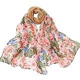 Fenverk Mode Frau Solide Punkt Drucken Lange Weich Wickeln Schal Damen Schals Promi-Stil Maxi Groß TüCher Sarong Designer Leicht Kimono,160x50cm(Khaki)