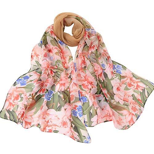 (Fenverk Mode Frau Solide Punkt Drucken Lange Weich Wickeln Schal Damen Schals Promi-Stil Maxi Groß TüCher Sarong Designer Leicht Kimono,160x50cm(Khaki))