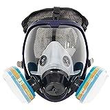 Compléter le costume 6800 Masque intégral de respirateur pour peindre la pulvérisation, masque chimique de la poussière, FDA a examiné, deux genres de connecteurs