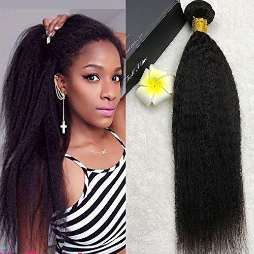Full Shine 14 Pouce/35cm 100% Cheveux Humains Vierges 1 Bundle 100g Afro Kinky Straight Weave Extension de Cheveux Pour les Femmes Noires Non Traité 6A Grade