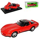 CHEVY CHEVROLET CORVETTE C3 C 3 COUPE ROT RED METALLMODELL 1/18 WELLY MODELLAUTO MODELL AUTO