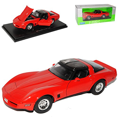 chevy-chevrolet-corvette-c3-c-3-coupe-rot-red-metallmodell-1-18-welly-modellauto-modell-auto