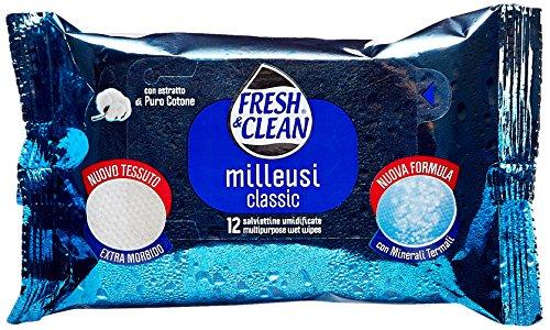 Fresh & Clean - Salviettine Umidificate, con Estratto di Puro Cotone - 12 pezzi