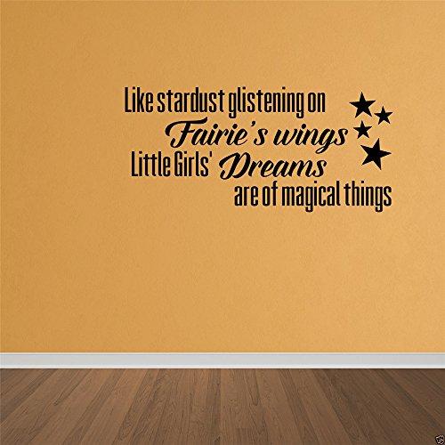 wandaufkleber sterne bunt Wie Sternenstaub, der auf Fairies Flügeln glitzert, sind die Träume der...