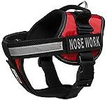 Dogline Weste Geschirr für Hunde und 2Abnehmbaren Nase Arbeit Patches, X-Large/91,4cm zu 116,8cm rot
