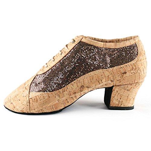 PortDance , Chaussons de danse pour femme Cork/Bronze Glitter