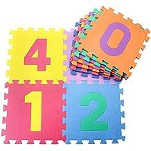 Jiyaru 10 PCS EVA alfombra almohadilla alfabeto rompecabezas bebé rastrear juego niños estera