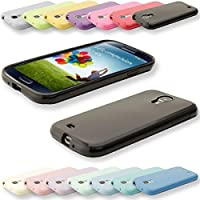 Silikon Soft Samsung Galaxy S4 i9500 Blickdicht / Transparent TPU Hülle Cover Skin Case Schale Bumper Tasche Etui Schutz (Blickdicht Rosa)