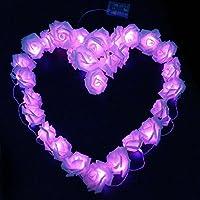 LUXJET 3M 30er LED cadena luces,Rosa Guirnalda De Luces,bateria cargada, Ideal para Navidad, Navidad, boda/fiesta de cumpleaños decoraciones (púrpura)