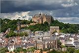 Poster 30 x 20 cm: Stadtansicht von Marburg mit Schloss von