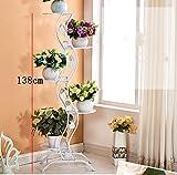 PortePlante De style européen simple balcon Fer étage-style Flower Rack / multi-couches intérieur et extérieur métal plante affichage vertical Rack fleur Étagères à fleurs ( Couleur : Blanc )...