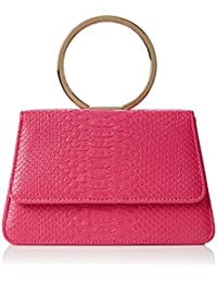 SwankySwans  Piper Snakeskin Pu Leather Clutch Bags Pink, Sac femme