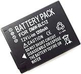 1200mAh DMW-BLC12 new Replacement Battery for Panasonic Lumix DMC-GH2, DMC-G6 and DMC-FZ200