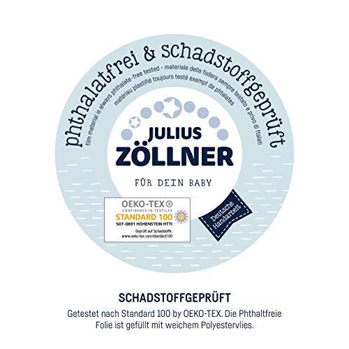 Julius Zöllner Wickelauflageauflage Softy, 75×85 cm, Kleine Eulen rosa - 5
