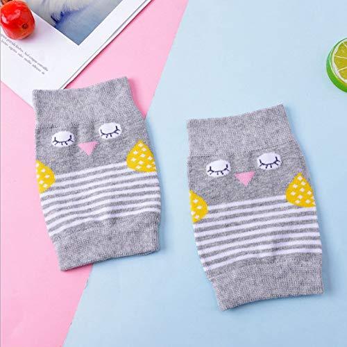 peino Baby kriechen Knie Pads Eule gestreift Knieschoner Kneepad Stulpen/Socken für Baby Kleinkind