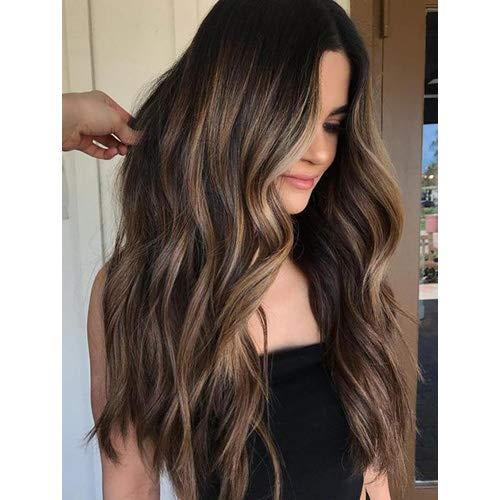 P2 Natürliches Licht (Ugeat 22 zoll Seamless Tape in Human Hair Extensions Piano Color Darkest Brown Highlighted with Light Brown Tape in Extensions Echthaar Remy Haar 50g 20pcs)