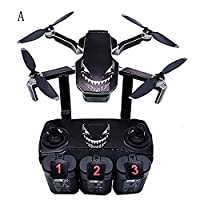 BANAA Anti-Scrached PVC Drone Stickers, Full Skin Waterproof Decal Film, DIY Surface Protector Compatible with DJI Mavic Mini Drone and Remote Controller