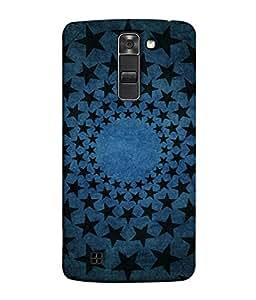 PrintVisa Designer Back Case Cover for LG K10 :: LG K10 Dual SIM :: LG K10 K420N K430DS K430DSF K430DSY (Art Round stars)