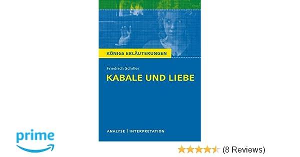 Kabale Und Liebe Von Friedrich Schiller Textanalyse Und