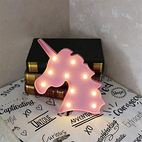 CC6 Night Light Licorne Tête Tir LED Lumières Décoratives Accessoires Table Lampe Mignon Salle des Enfants Forme Night Light Rêve Tenture Murale